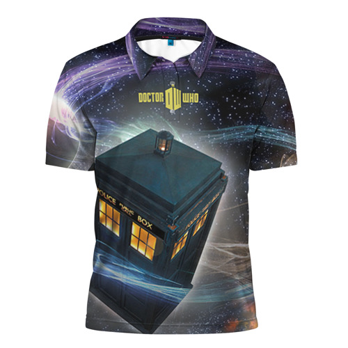 Мужская рубашка поло 3D Тардис
