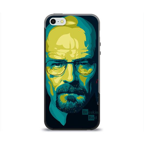 """Чехол силиконовый глянцевый для Apple iPhone 5S """"Heisenberg"""" (2) - 1"""