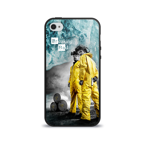 Чехол для Apple iPhone 4/4S силиконовый глянцевый Breaking bad