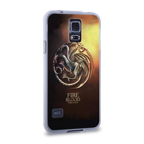 Чехол для Samsung Galaxy S5 силиконовый  Фото 02, Blood and Fire