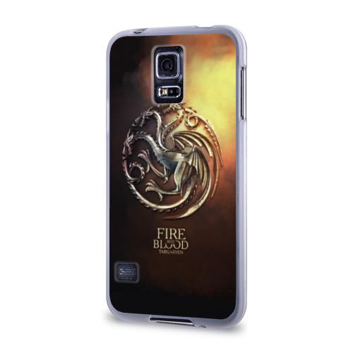 Чехол для Samsung Galaxy S5 силиконовый  Фото 03, Blood and Fire