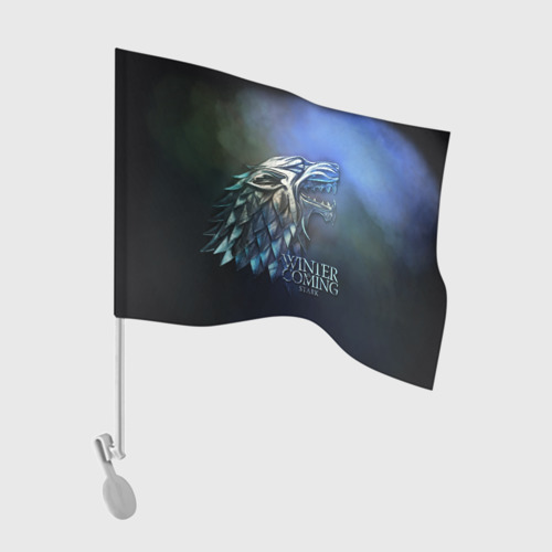 Флаг для автомобиля Зима близко