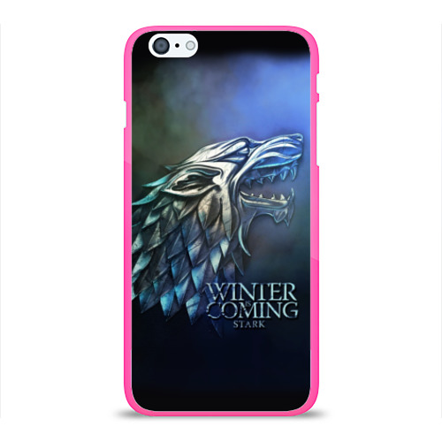 """Чехол силиконовый глянцевый для Apple iPhone 6 Plus """"Зима близко"""" - 1"""