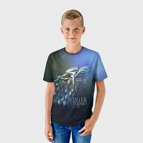 Детская футболка 3D Зима близко