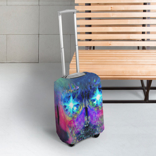 Чехол для чемодана 3D  Фото 03, Череп
