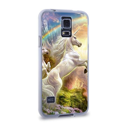 Чехол для Samsung Galaxy S5 силиконовый  Фото 02, Единороги