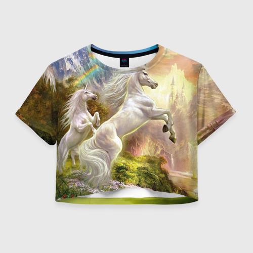 Женская футболка Cropp-top Единороги Фото 01