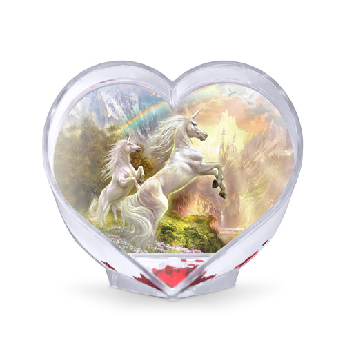 Сувенир Сердце Единороги от Всемайки