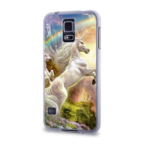 Чехол для Samsung Galaxy S5 силиконовый  Фото 03, Единороги