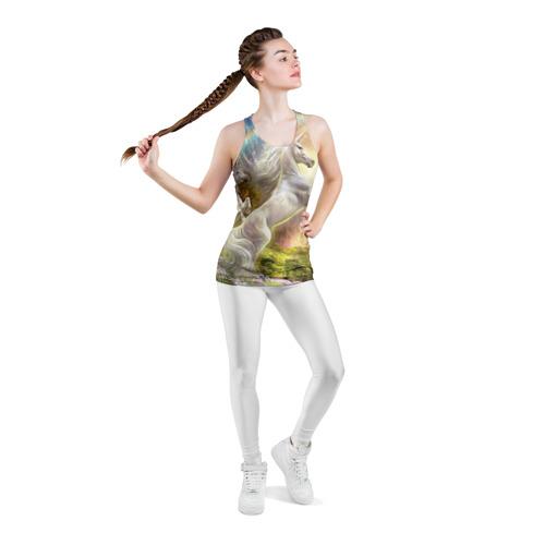 Женская майка 3D спортивная  Фото 05, Единороги