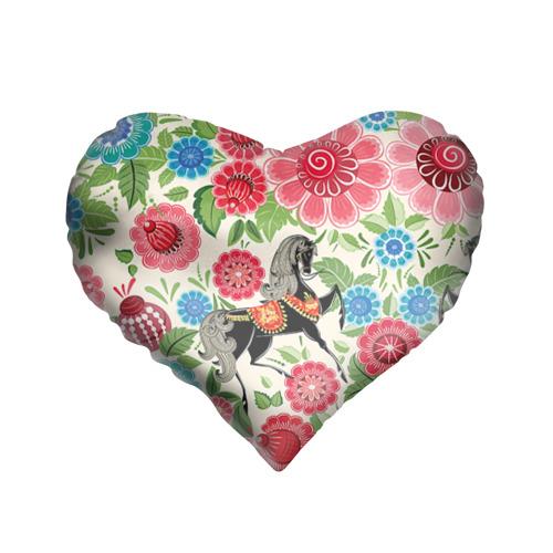 Подушка 3D сердце Роспись