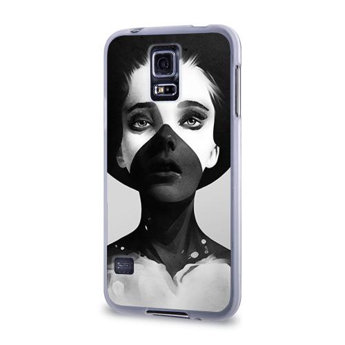 Чехол для Samsung Galaxy S5 силиконовый  Фото 03, Девушка