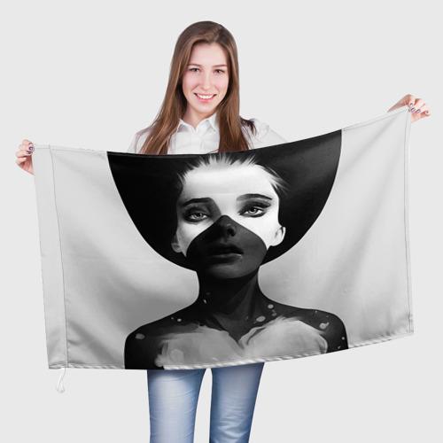 Флаг 3D  Фото 01, Девушка