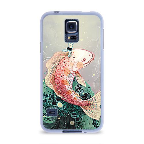 Чехол для Samsung Galaxy S5 силиконовый  Фото 01, Рыба