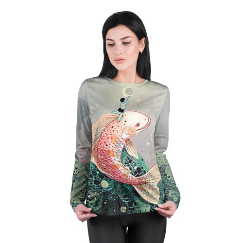 Женский лонгслив 3D для беременных  Фото 04, Рыба