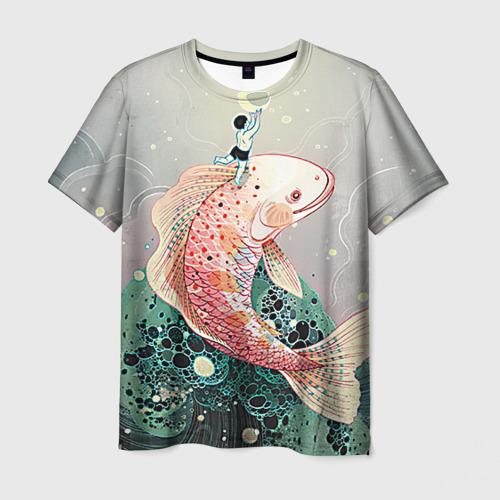 Мужская футболка 3D Рыба