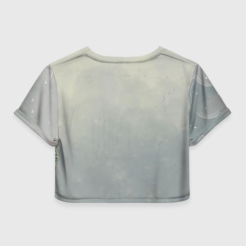 Женская футболка 3D укороченная Рыба