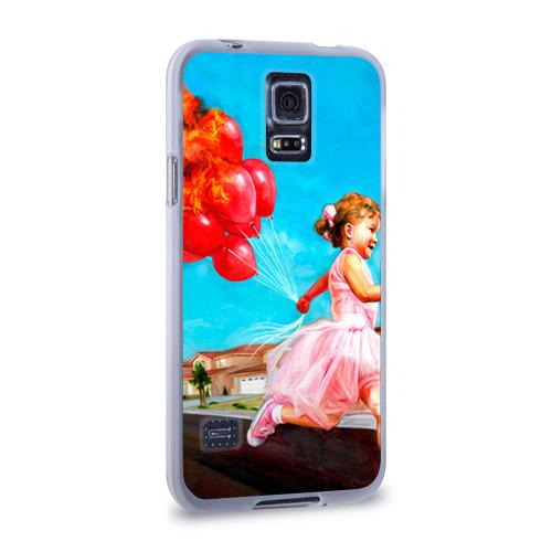 Чехол для Samsung Galaxy S5 силиконовый  Фото 02, Девочка с шариками