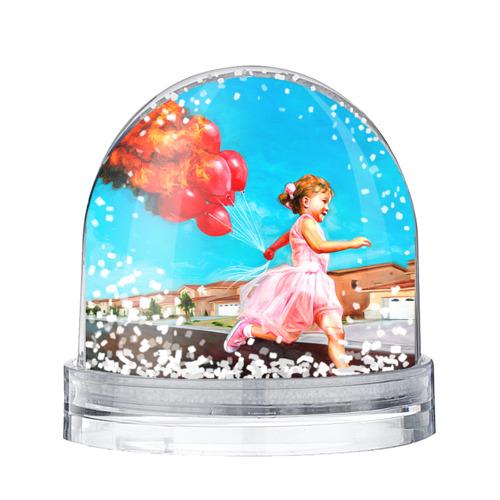 Водяной шар со снегом Девочка с шариками