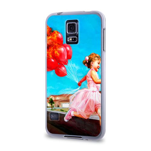 Чехол для Samsung Galaxy S5 силиконовый  Фото 03, Девочка с шариками