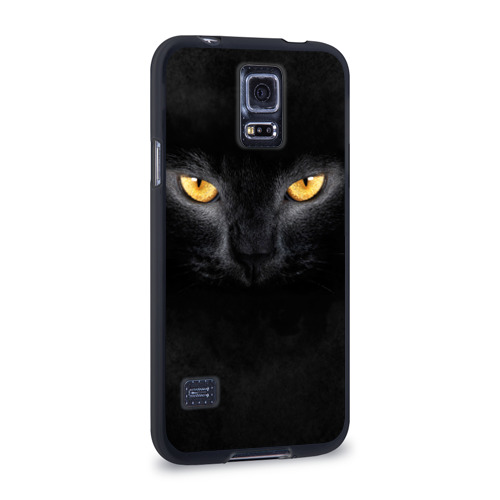 Чехол для Samsung Galaxy S5 силиконовый  Фото 02, Черная кошка