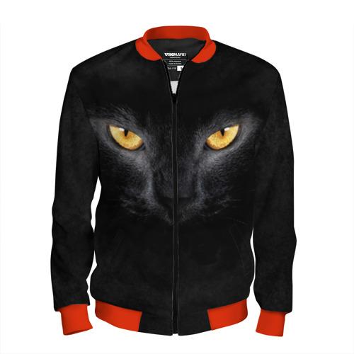 Мужской бомбер 3D Черная кошка