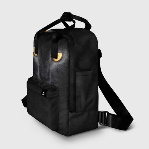 Женский рюкзак 3D Черная кошка Фото 01