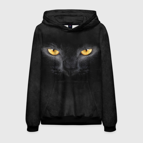 Мужская толстовка 3D Черная кошка Фото 01