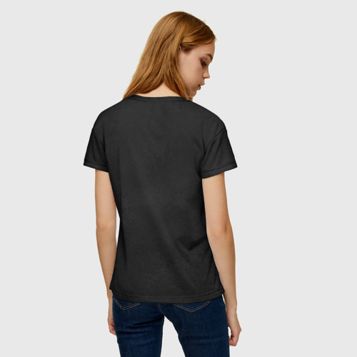 Женская футболка 3D Черная кошка Фото 01