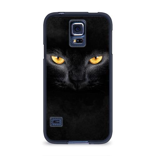 Чехол для Samsung Galaxy S5 силиконовый Черная кошка