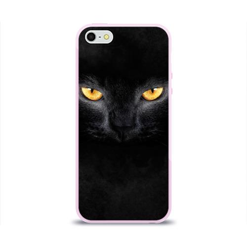 Чехол для iPhone 5/5S глянцевый Черная кошка Фото 01