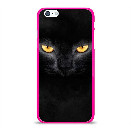 Чехол для iPhone 6Plus/6S Plus глянцевый Черная кошка Фото 01