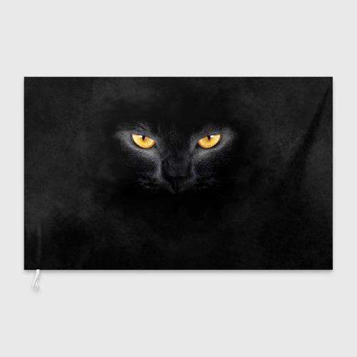 Флаг 3D  Фото 03, Черная кошка