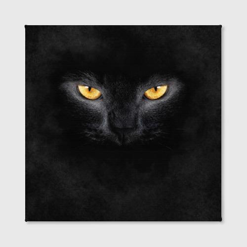 Холст квадратный Черная кошка Фото 01