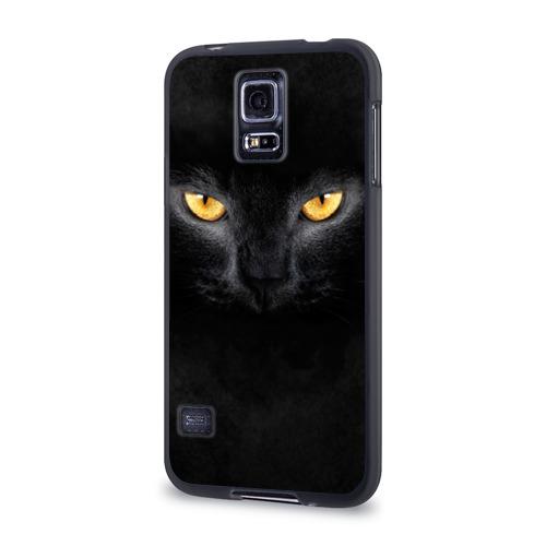 Чехол для Samsung Galaxy S5 силиконовый  Фото 03, Черная кошка