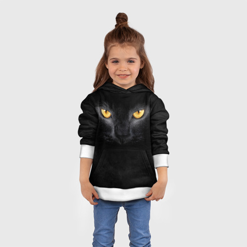 Детская толстовка 3D Черная кошка