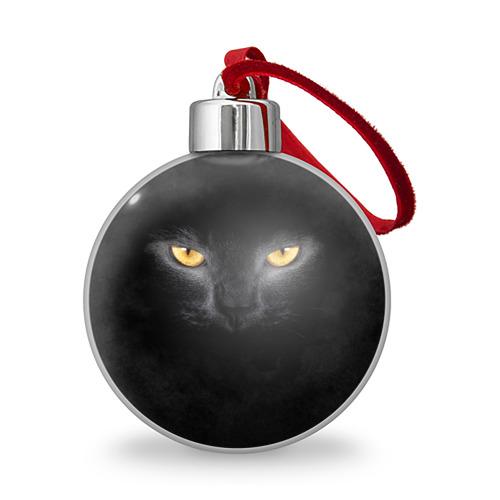 Ёлочный шар Черная кошка Фото 01