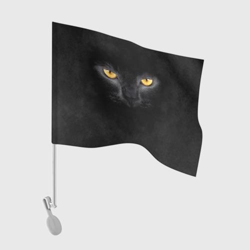 Флаг для автомобиля Черная кошка Фото 01