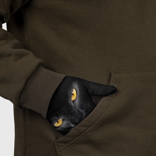 Перчатки 3D Черная кошка Фото 01