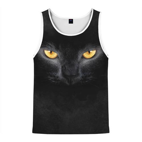 Мужская майка 3D Черная кошка Фото 01