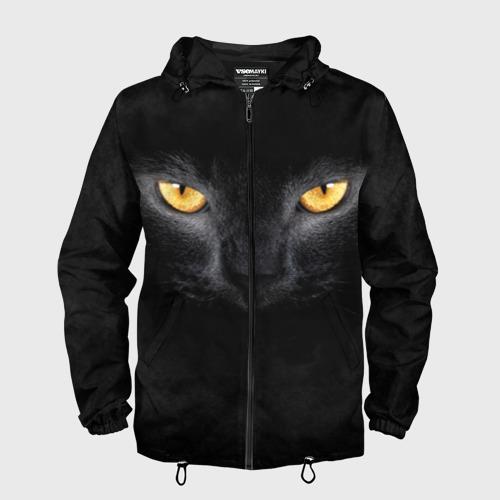 Мужская ветровка 3D Черная кошка Фото 01