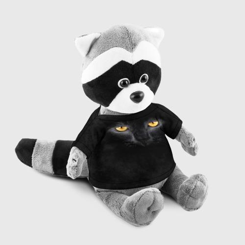 Енотик в футболке 3D Черная кошка Фото 01