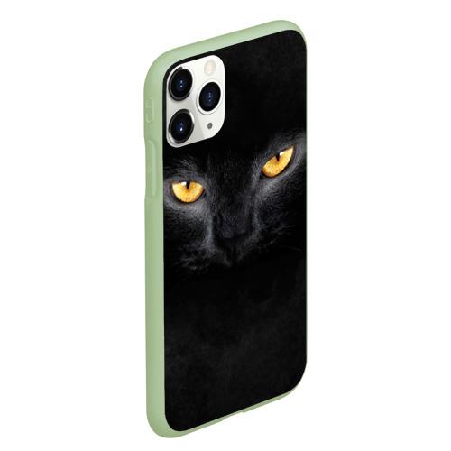 Чехол для iPhone 11 Pro Max матовый Черная кошка Фото 01