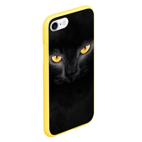 Чехол для iPhone 7/8 матовый Черная кошка Фото 01