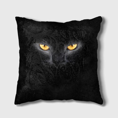 Подушка 3D Черная кошка Фото 01