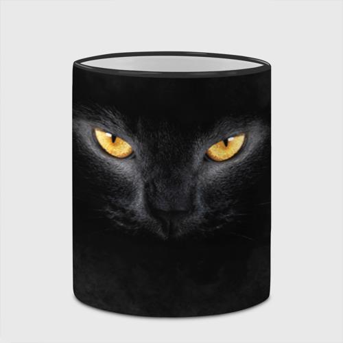 Кружка с полной запечаткой Черная кошка Фото 01