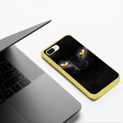Чехол для iPhone 7Plus/8 Plus матовый Черная кошка Фото 01