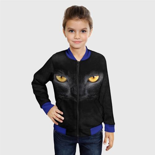 Детский бомбер 3D Черная кошка Фото 01