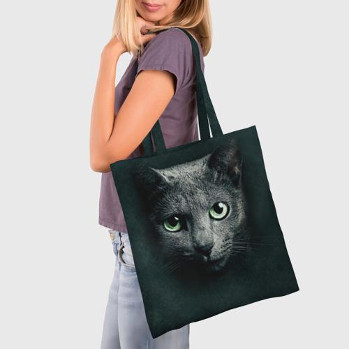 Сумка 3D повседневная Серый кот Фото 01