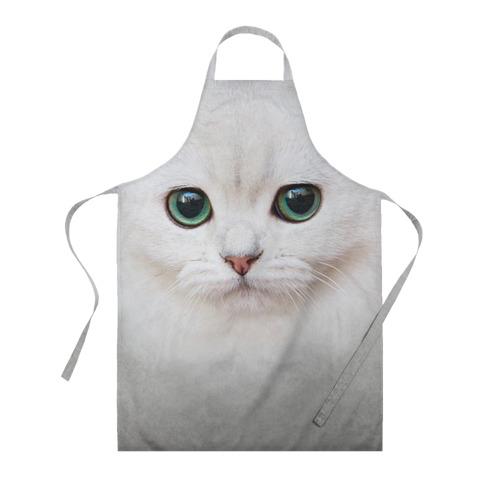Фартук 3D Белый котик